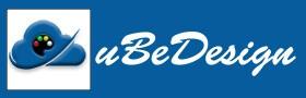 New uBeDesign Logo button